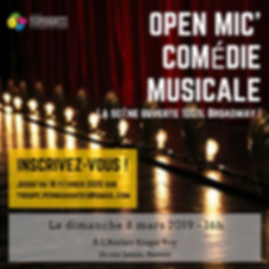 Affiche inscription OPEN MIC 8 mars 2020