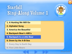 Starfall Sing-Along Vol. 1