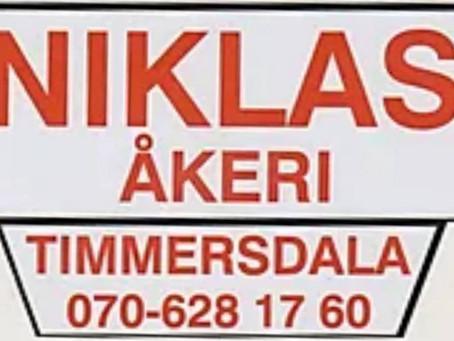 Fortsatt samarbete med Niklas Åkeri
