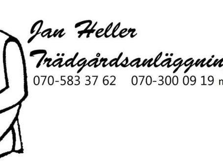 Fortsatt samarbete med Jan Heller Trädgårdsanläggningar