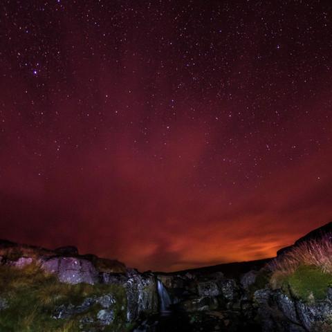 Dartmoor starts and waterfall