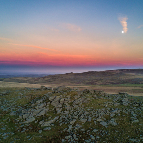 Looking east over North Dartmoor