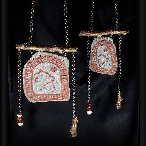 Bear's Birth Stone - Runestone necklace