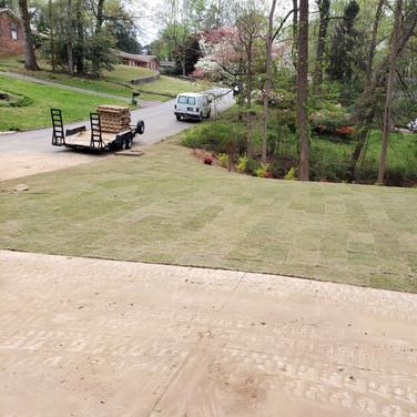 Front Yard 38 Pallet Sod Installation