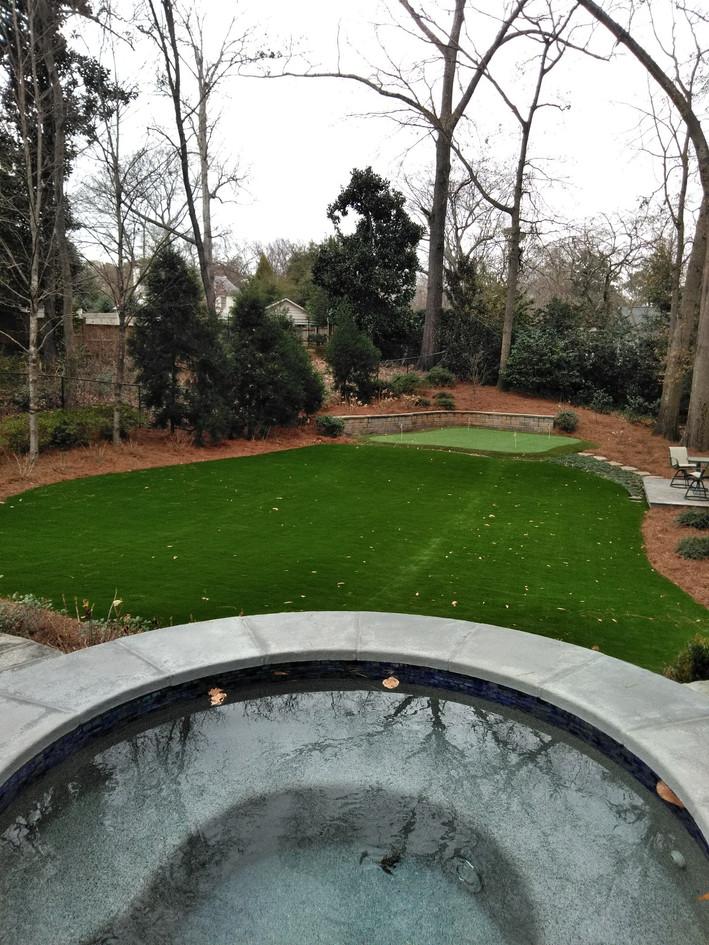 Back Yard Synthetic Turf Installation