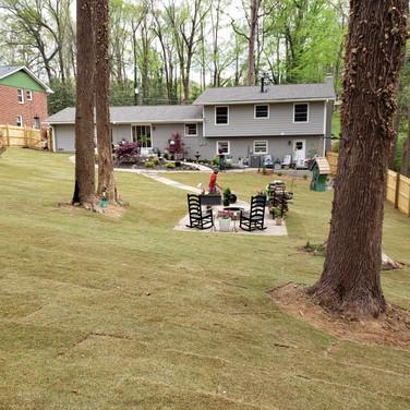 Back Yard 38 Pallet installation