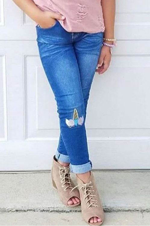 Unicorn Knee Skinny Jeans