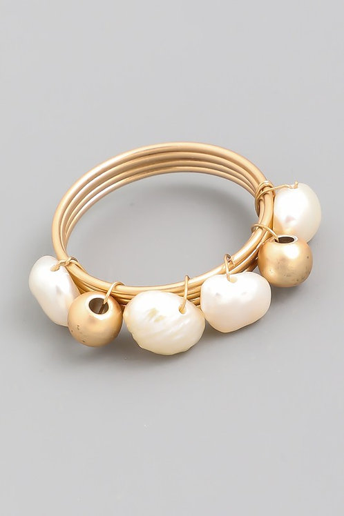 Pearl Coil Ring (Preorder)