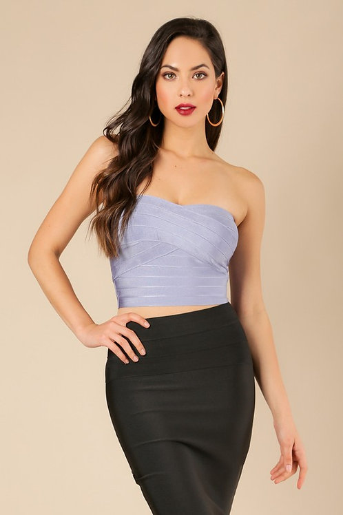 Strapless Bandage Crop Top
