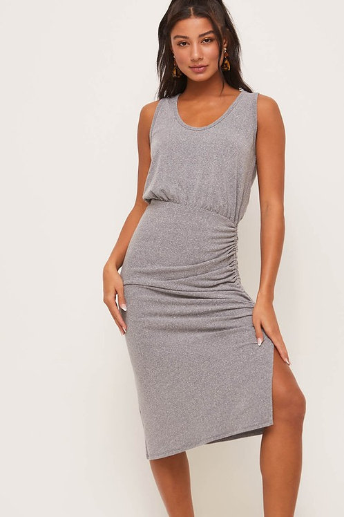 Sleeveless Side Ruched Dress