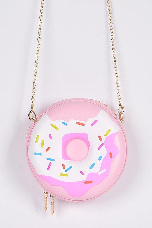 Donut Clutch Bag - Pink