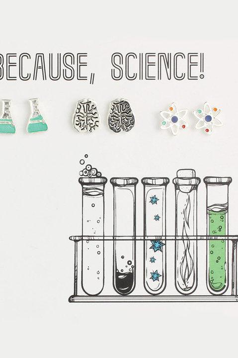 Science Lovers Stud Earrings
