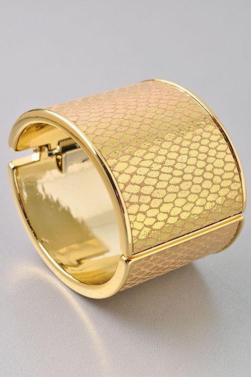 Gold Animal Print Cuff Bracelet