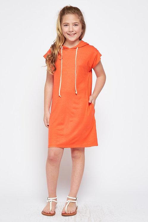 Short Sleeve Hoodie Dress