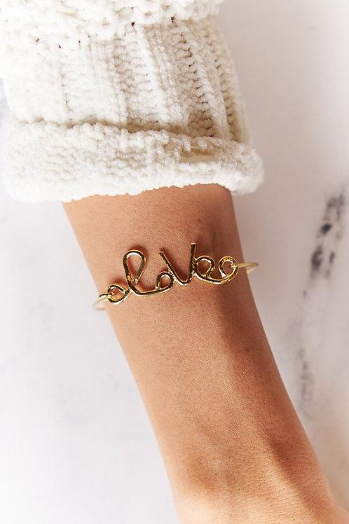 Gold Love Charm Bracelet