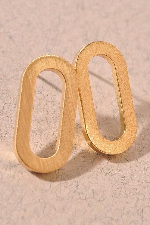 Gold Oval Stud Earrings (Preorder)