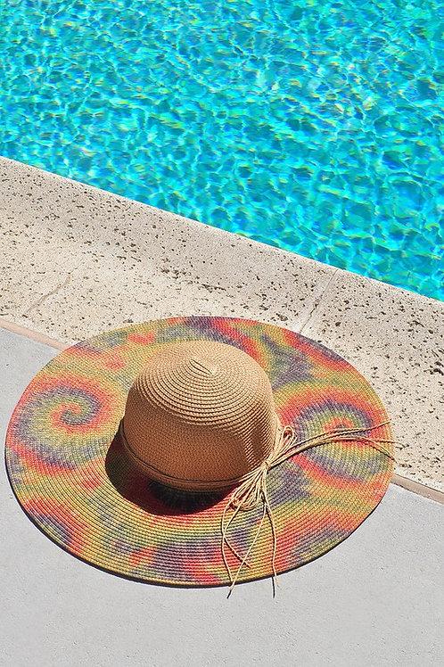 Tie Dye Khaki Sun Hat