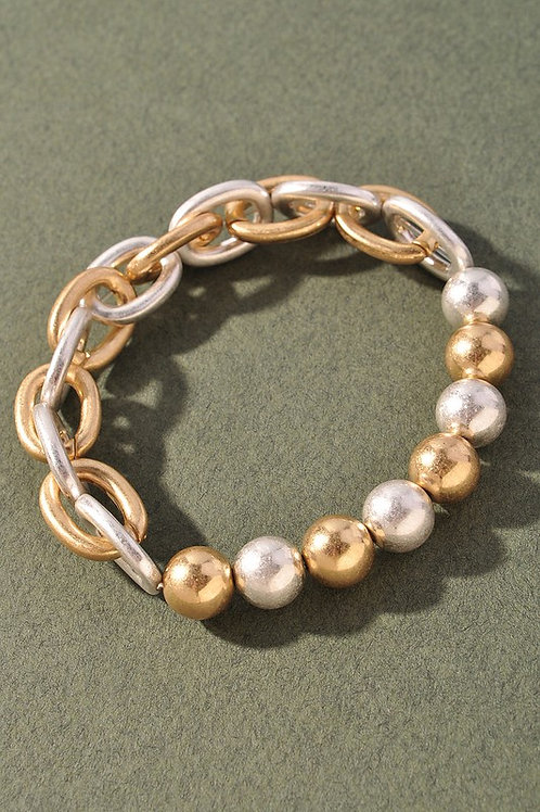 Gold/Silver Bead Chain Bracelet