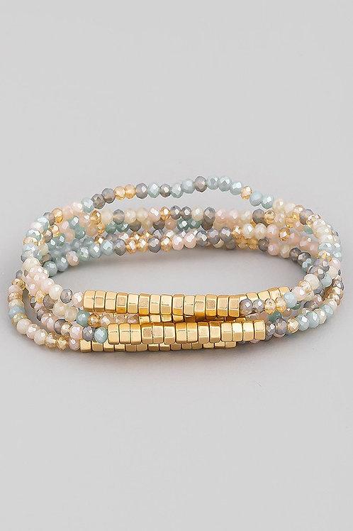 Beaded Bracelet Set - Multi-colour