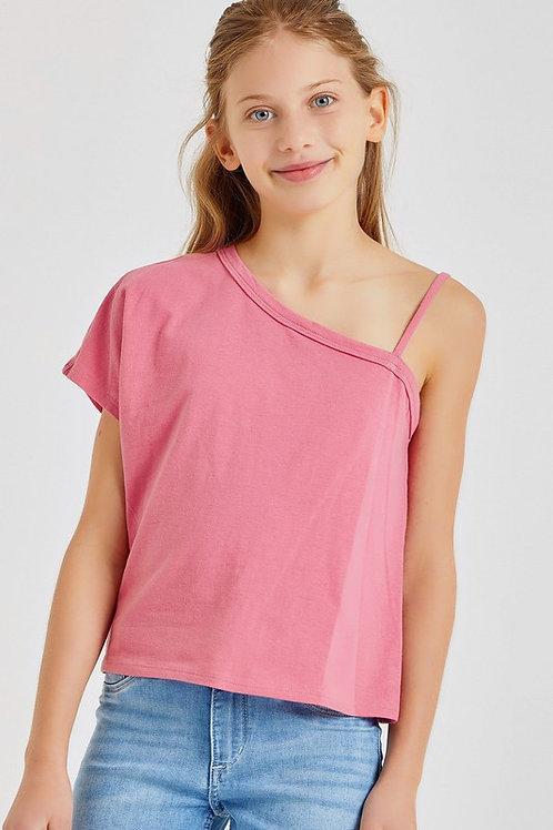 One Shoulder T-Shirt Top