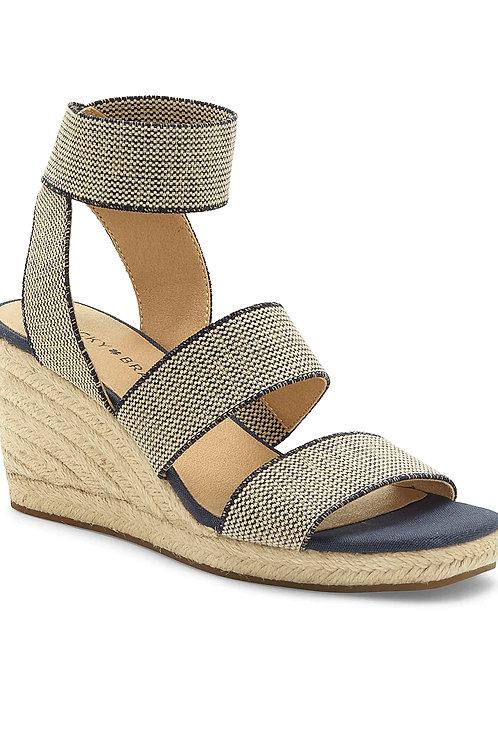 Canvas Espadrille Wedge Sandals