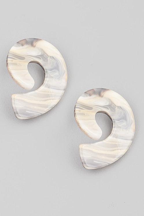 Resin Swirl Stud Earrings