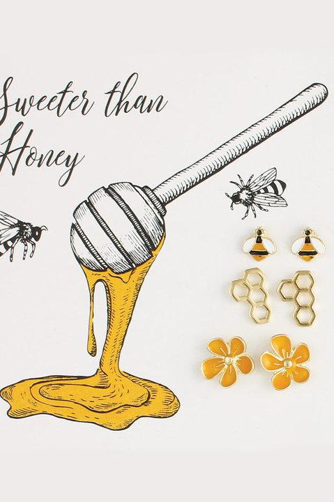 Sweeter Than Honey Stud Earrings
