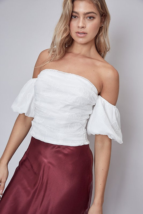 Strapless Puff Sleeve Top
