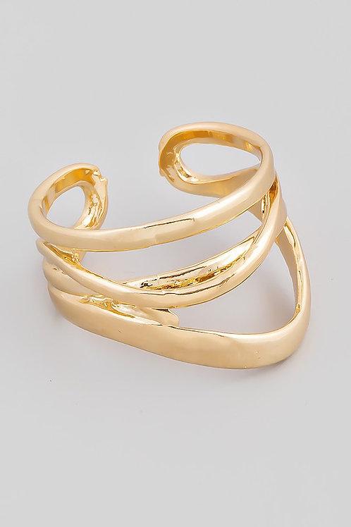 Adjustable Gold Multi-layered Ring