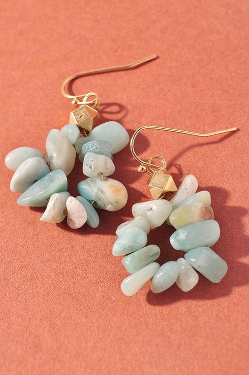 Mint Stone Drop Earrings