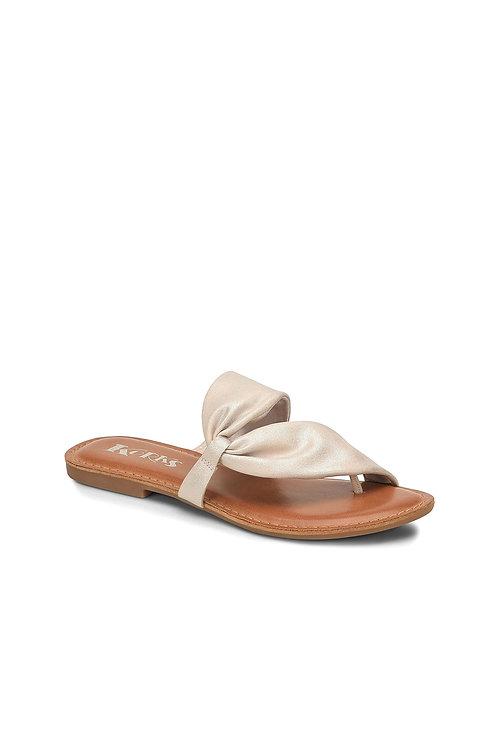 Nude Metallic Effect Sandals (Preorder)