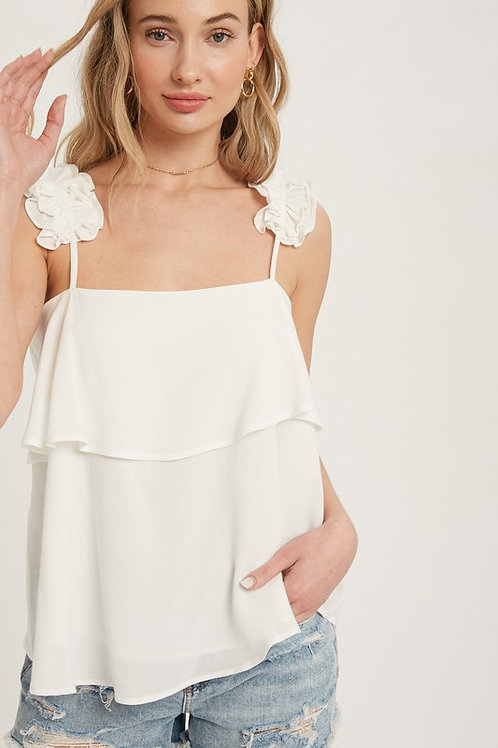 Frill Strap Layered Top