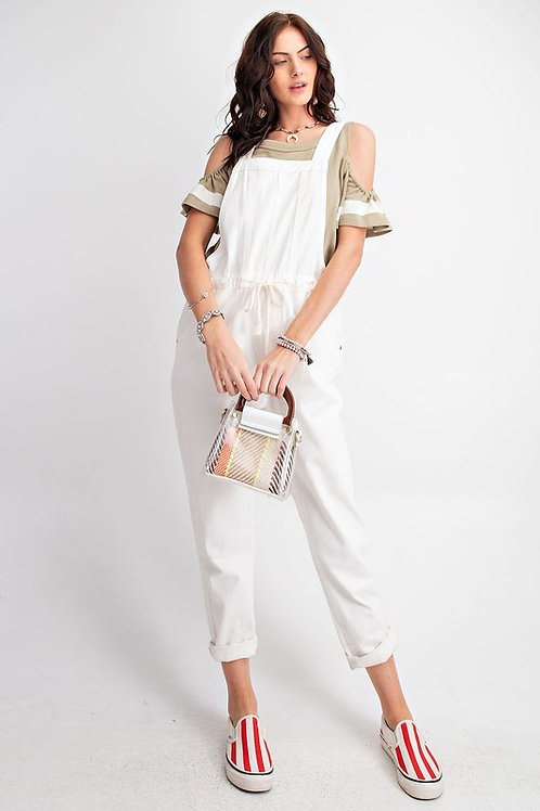 Slouchy Drawstring Overall Jumpsuit