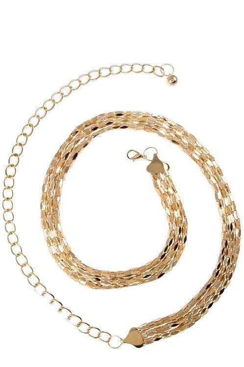 Snake Effect Metal Chain Belt (Preorder)