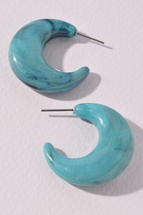 Turquoise Hoop Earrings