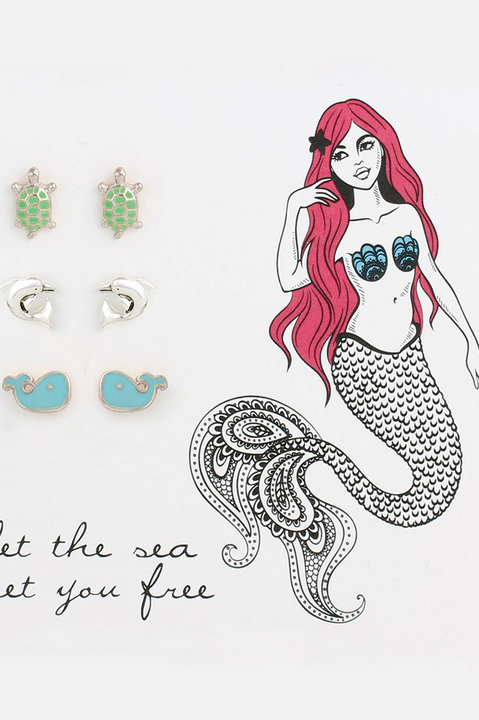 Sea Life Stud Earrings