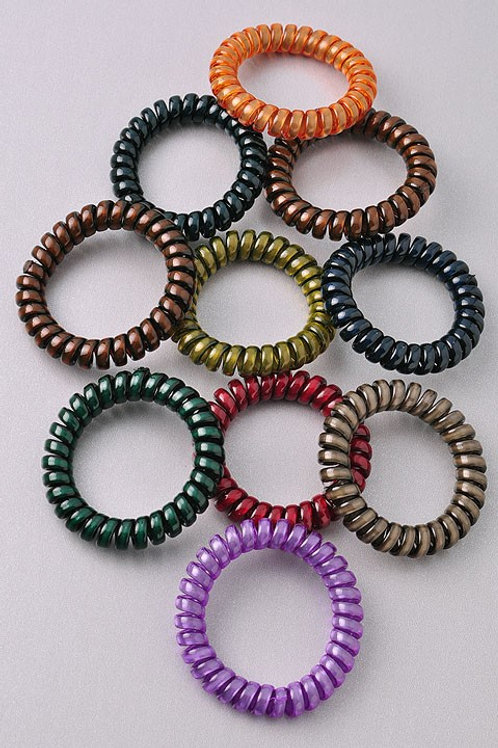 Mulit-colored Dark Coil Hair Bands