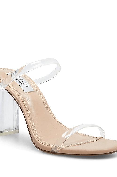 Clear Straps Block Heel Lucite Sandals (Preorder)