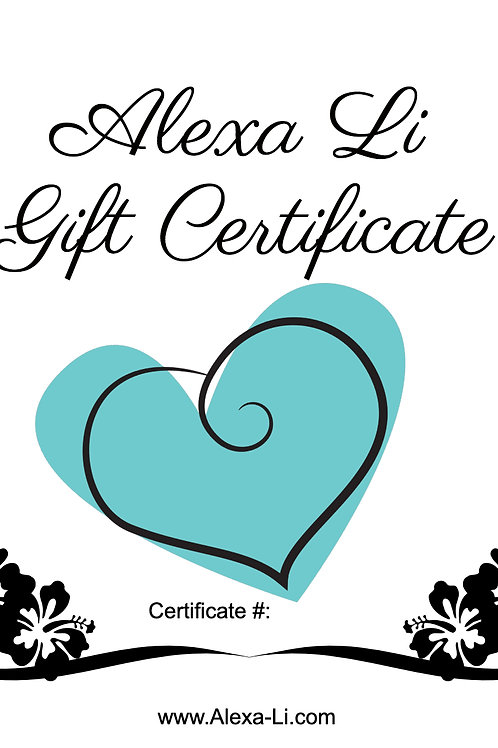 Alexa Li Gift Certificate