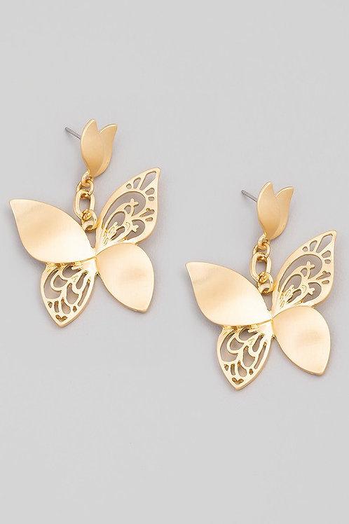 Butterfly Cut Out Drop Earrings