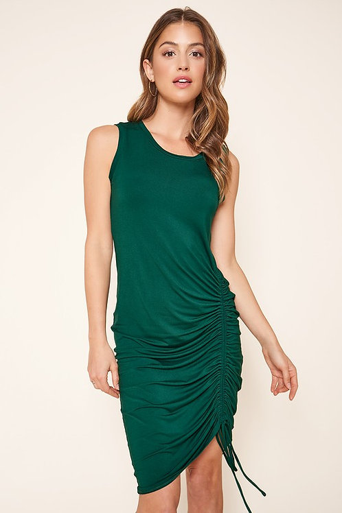 Sleeveless Ruched Side Jersey Dress