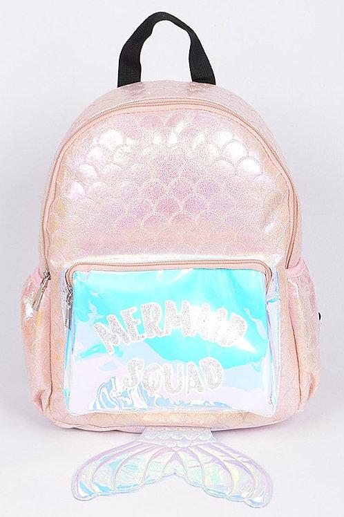 Mermaid Tail Backpack - Pink