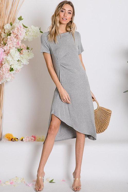 Asymmetric Short Sleeve Dress