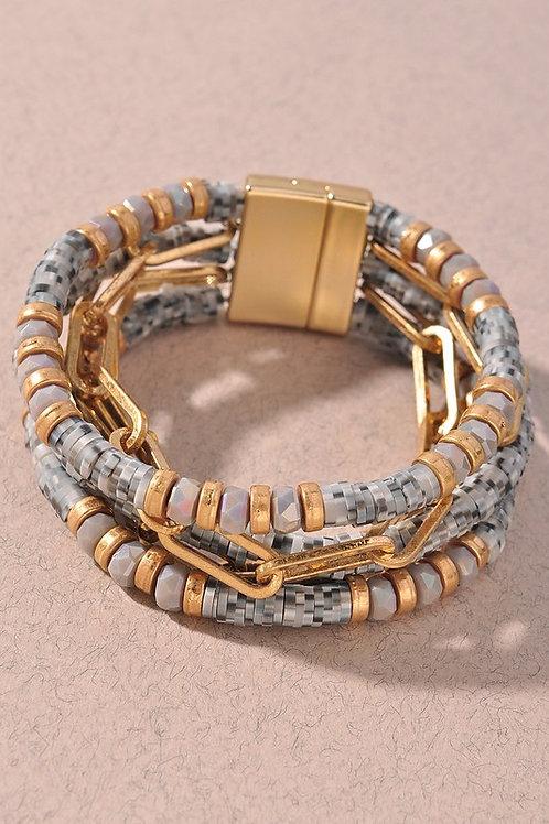 Bead Chain Magnetic Bracelet