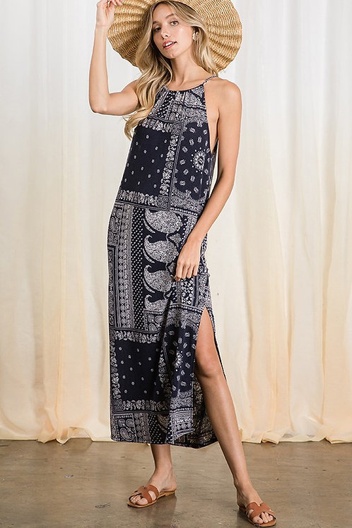 Halter Neckline Maxi Dress