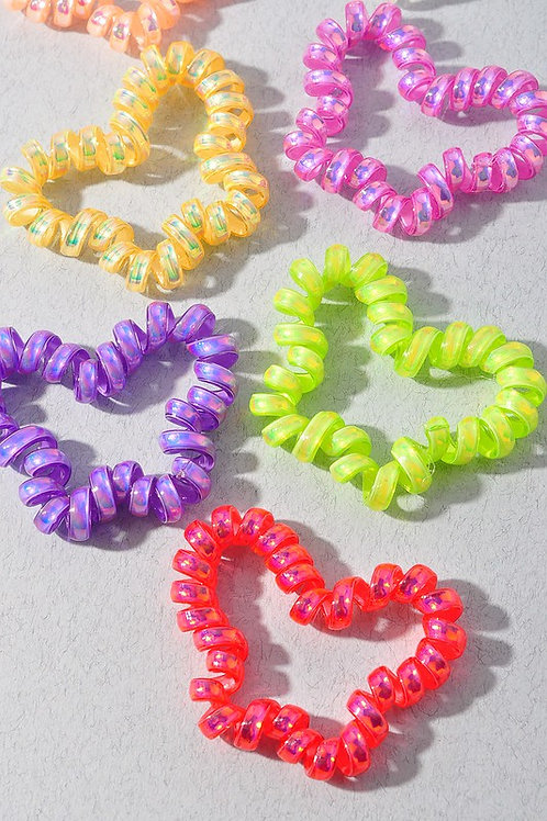 Multi-color Butterfly Coil Hair Bands