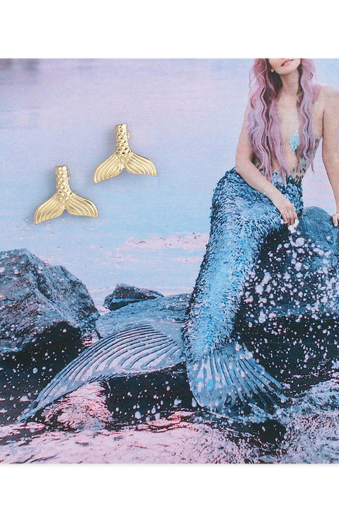 Mystical Mermaid Tail Stud Earrings