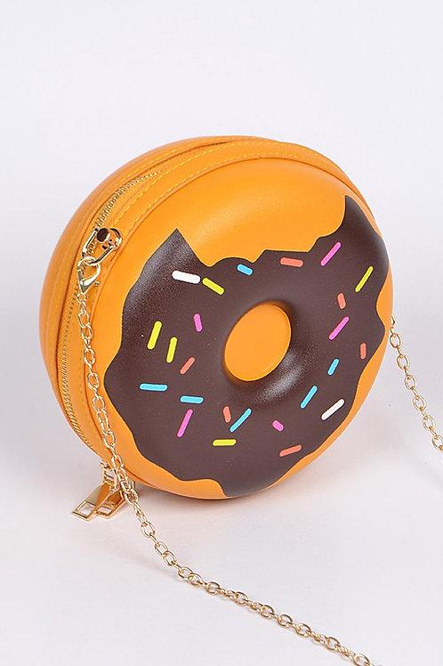 Donut Clutch Bag - Camel