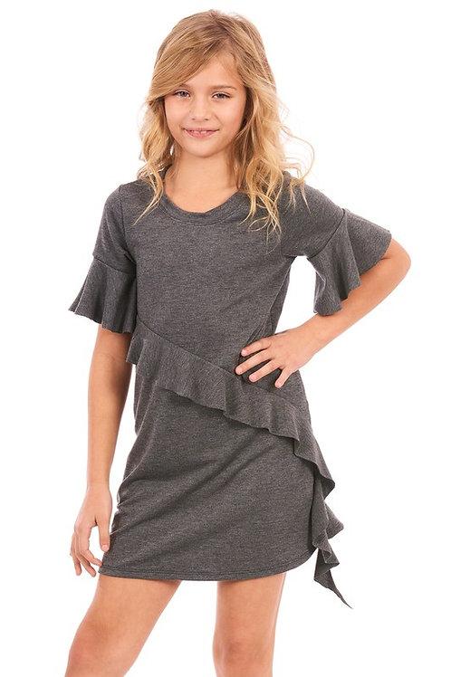 Ruffle Detail Short Sleeve Dress (Preorder)