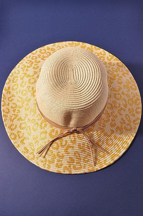 Gold Animal Print Sun Hat